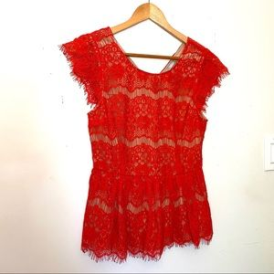 Anthro Maeve Crochet Top
